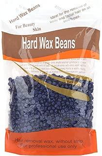 Bonjanvye Hard Wax for Facial Wax Beans 300g Brazilian Wax Glitter Purple