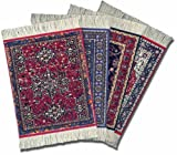 "Lextra CRA-C02 (Oriental Assortment), CoasterRug, assorted colors, 5.5"" x 3.5"", set of four"