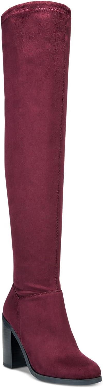 Bar III Womens Diandra Closed Toe Knee High Fashion Boots, Malbec, Size 7.0