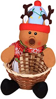 Colorzonesd New Christmas Snowman Christmas Toys, Elk Fruit Candy Basket, Kids' Best Gifts (C)