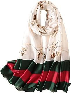 Womens 100% Mulberry Silk Scarf Long Satin Scarf Fashion Designer Scarf Lightweight Wraps