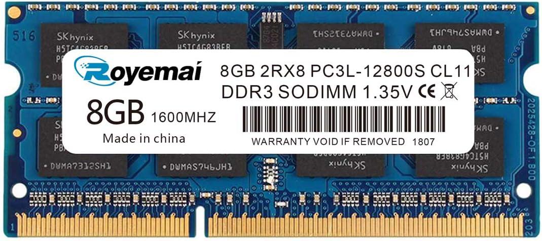 Memoria 16gbkit 8Gb, Ddr3 1600Pc3l-12800s Ddr3l-d6w