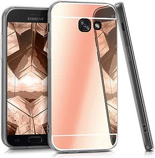 kwmobile Mirror Case for Samsung Galaxy A5 (2017) - TPU Silicone Bumper Protective Cover Reflective Back Case - Rose Gold Reflective