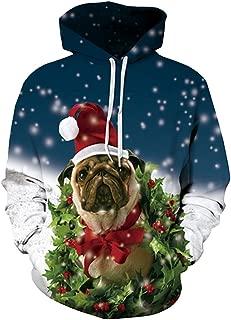 Unisex Ugly Christmas Hooded Sweatshirt Graphic Hoodies Pullover