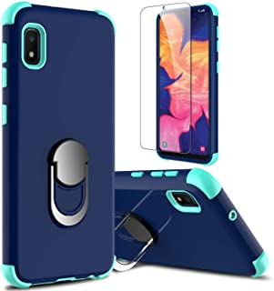 Galaxy A10e Case with Soft TPU Screen Protector, lovpec Ring Magnetic Holder Kickstand Shockproof Protective Phone Cover Case for Samsung Galaxy A10e 5.8 inches (Navy)