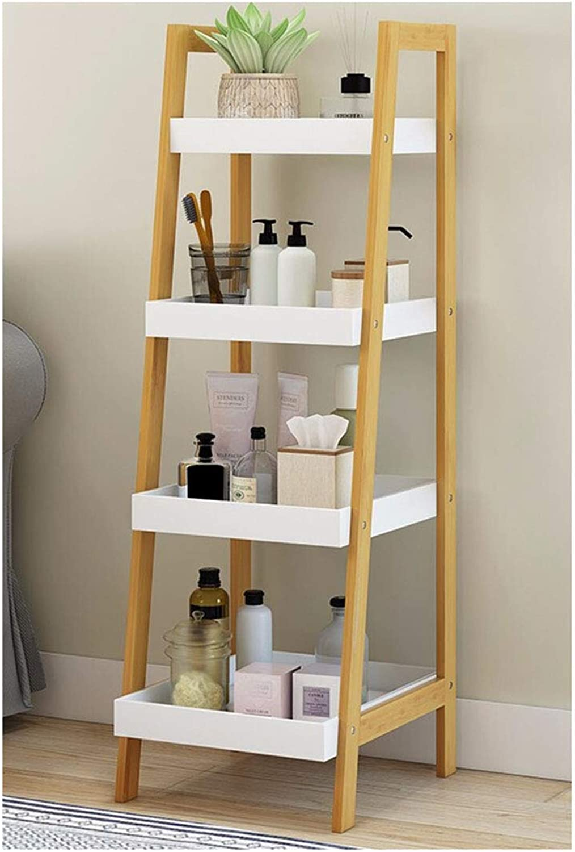 Kitchen Storage Shelf Bedroom Living Room Four-Layer Trapezoidal Creative Shelf Organisation