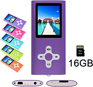 RHDTShop MP3 MP4 Player with a 16 GB Micro SD Card, Support UP to 64GB TF Card, Rechargeable Battery, Portable Digital Mus...