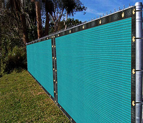 Ifenceview 12' x 5' to 12' x 100' Patio Top Driveway Carport Barn Kennel Yard Garden Plants Crops Shade Cloth Mesh Net Pergola Gazebos Cover Canopy Awning (12' x 18', Turquoise)