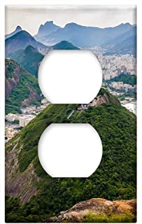 Switch Plate Outlet Cover - Rio De Janeiro Brazil South America Sugarloaf South