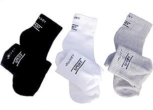 Jockey Ankle Socks, Pack of 3 (Grey/White/Black)