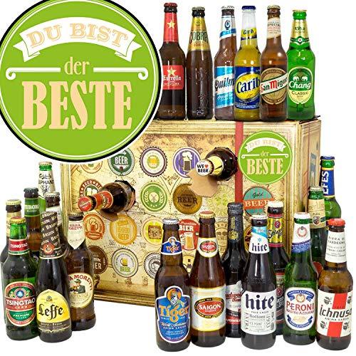 Du bist der Beste + Weihnachtskalender mit Bier + Bier aus aller Welt 24x