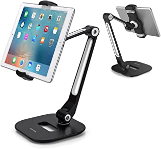 AboveTEK Long Arm Aluminum Tablet Stand, Folding iPad Stand with 360° Swivel iPhone..