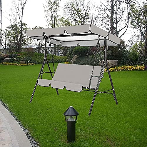 Duan hai rong - Fundas de repuesto para toldo para 3 plazas, 2 plazas, columpio, para silla de columpio, cubierta superior impermeable de repuesto para silla de jardín al aire libre, protección U