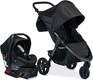 Britax B-Free Travel System with B-Safe Ultra Infant Car Seat - Birth to 65 pounds, Midnight