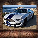 DCPPCPD Leinwand Druck Poster Supercar Ford Mustang Shelby