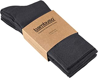 Bambuso Bamboo Socks 3-Pack. Men's and Women's Super Soft, Premium Luxury Socks