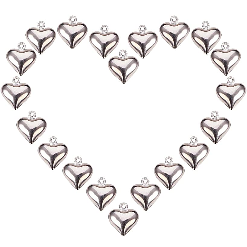 100pcs Heart Pendants Tibetan Style Jewelry Charms for Making Choker Extender Chain Drops Necklace Bracelet Earrings Jewelry Accessories Lead Free and Cadmium Free DIY Findings 10x7mm