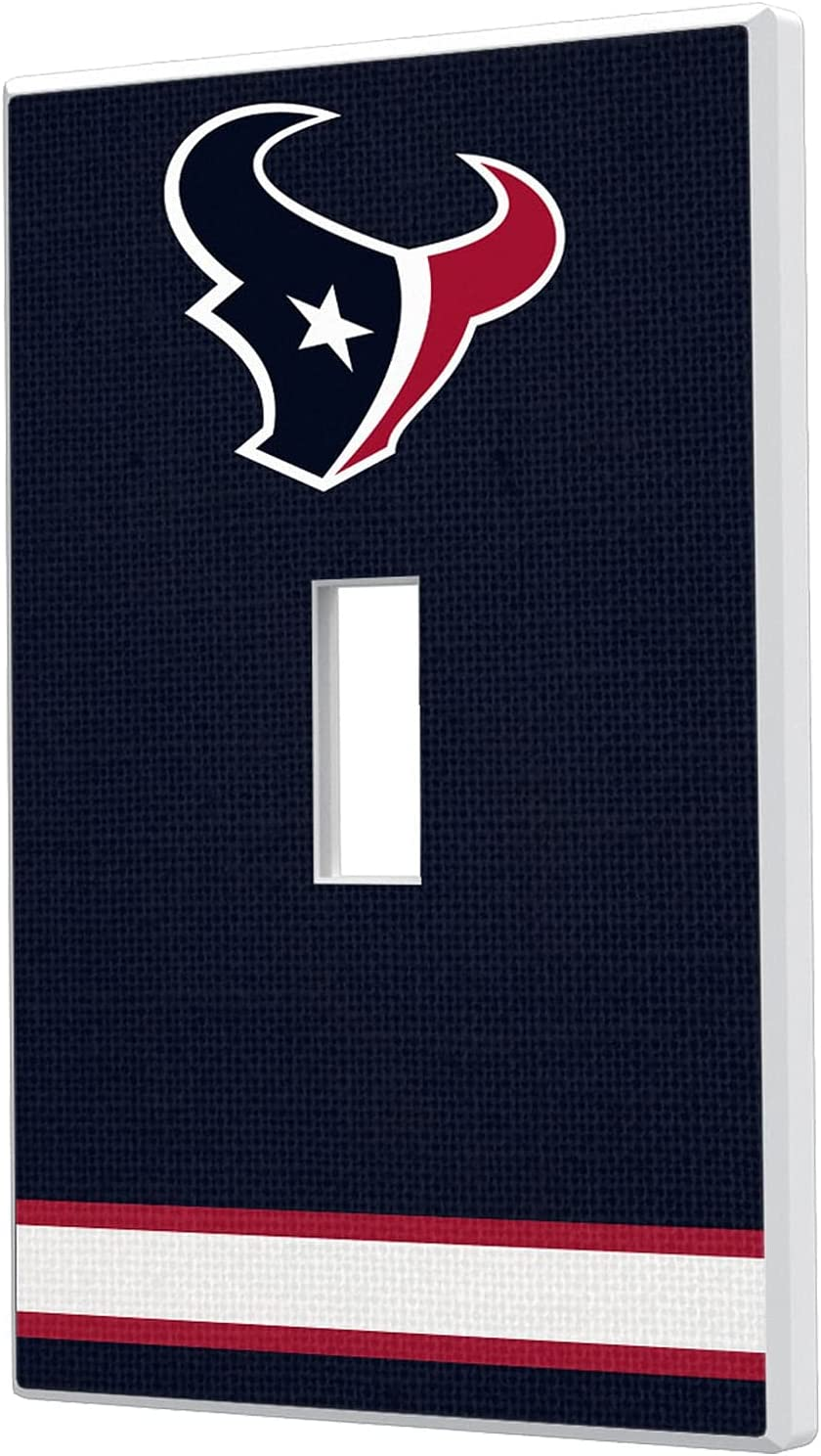 Al sold out. Houston Texans Stripe Single Light Toggle Switch Special Campaign Plate