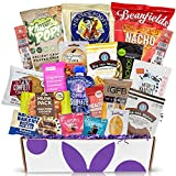 Healthy Snacks Box Sampler Gift : Variety Of Gourmet Sweet & Savory Healthy Gift Basket For Adults, College Students, Or Families