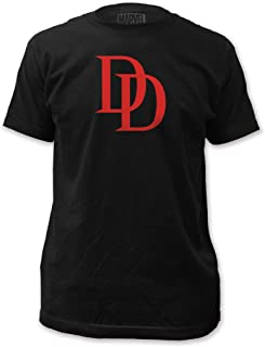 Daredevil DD The Man Without Fear Logo Adult Black T-Shirt