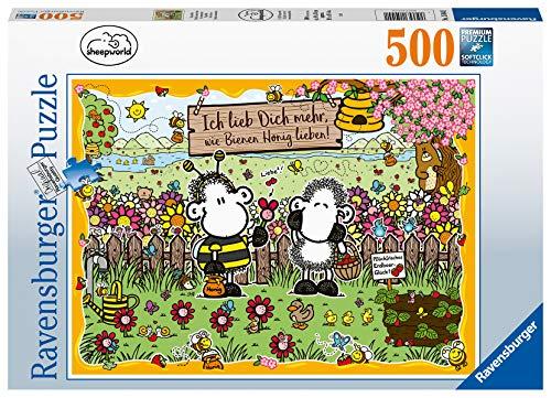 Ravensburger Puzzle 15044 - Sheepworld Bienenliebe - 500 Teile Puzzle für Erwachsene und Kinder ab 10 Jahren