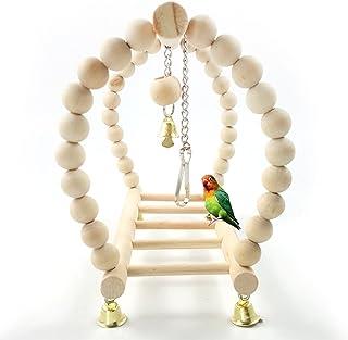 Sanwooden Funny Parrot Toy Bird Parrot Cockatiel Hanging Suspension Bridge Swing Ladder Climbing Cage Toys Pet Supplies
