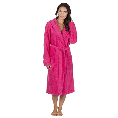 Forever Dreaming Women s Luxury Terry Towelling Bath Robe - Hooded Cotton  Hotel Spa Gown 261722dcd