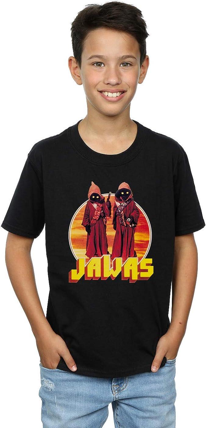 STAR WARS Boys A New Hope Jawas T-Shirt 7-8 Years Black