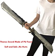 POMUTRE Cosplay Thanos Sword 42.5 inch Thanos Double Edged Sword PU Foam Birthday Gifts