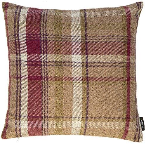 McAlister Textiles Federe Tartan Scozzese Viola Mora | Copricuscini Decorativi Divano e Letto con Cerniera a Scomparsa | 1 Federa 40x40cm