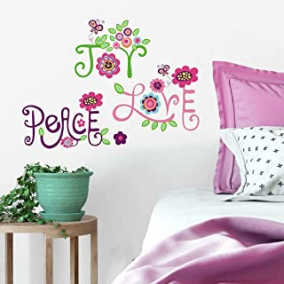 RoomMates Love, Joy, Peace Peel and Stick Wall Decals,Multicolor,10 inch  x 18 inch
