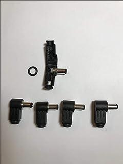 5 x 5,5 mm x 2,5 mm 90 graden rechtshoek-connector DC voedingsstekker soldeerpunt