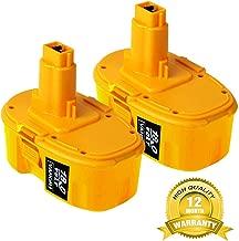 2-Pack 3.0Ah 18V DC9096 Replacement for Dewalt, 18V XRP Battery for Dewalt 388683-12 651034-01 DE9039 DE9095 DE9096 DE9098 DW9096 DW9095 DW9098