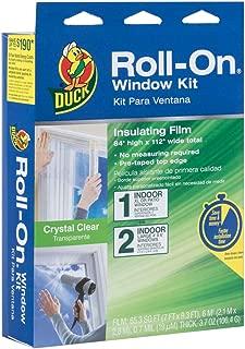 Duck Brand Roll-On Indoor Extra Large Window/Patio Door Premium Insulating Film Kit, 84-Inch x 112-Inch, 285649