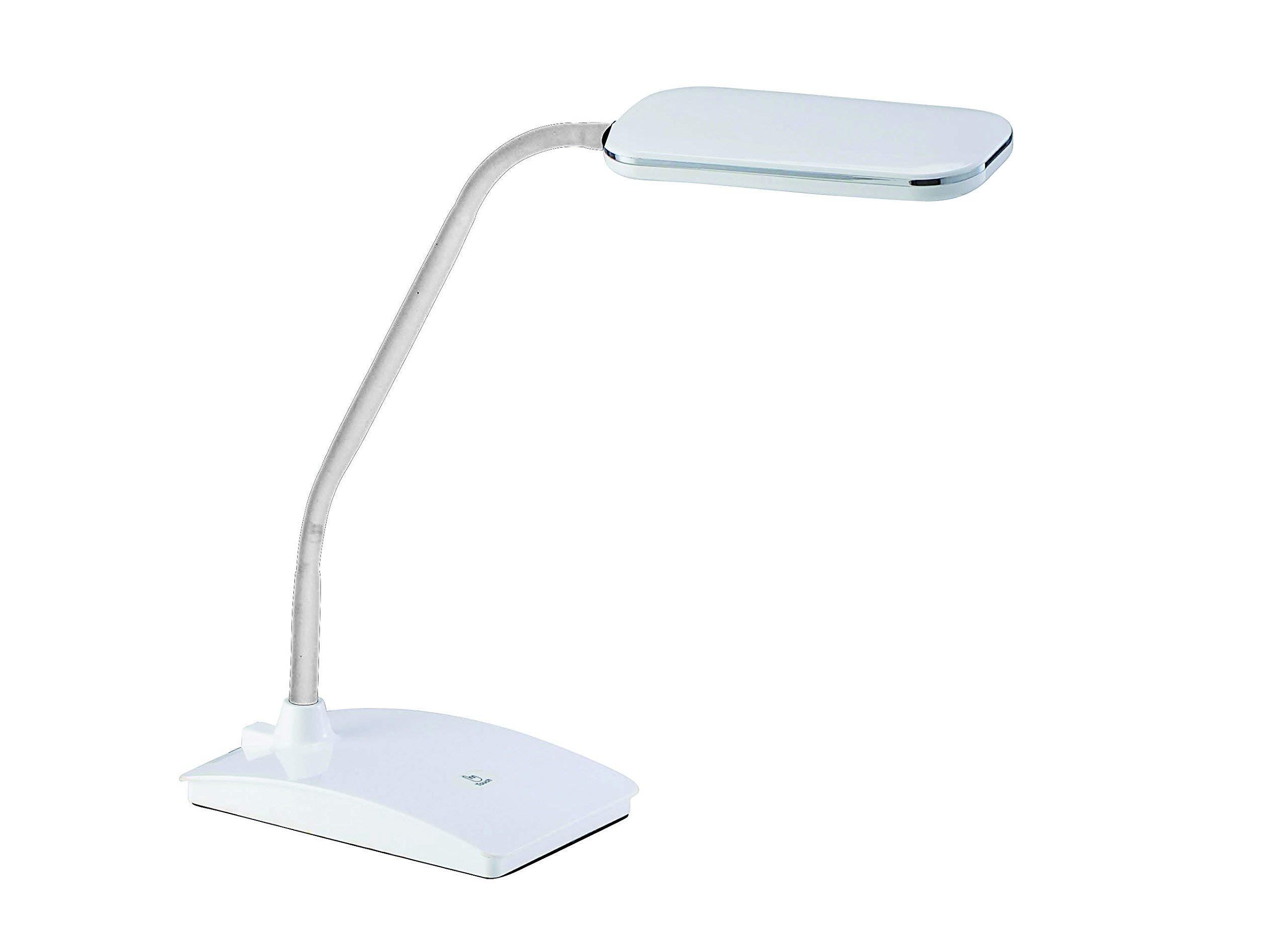 LED Tischleuchte POLLY Tischlampe Chrom 4-Stufen Dimmer flexibel