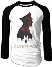 Creamfly Mens Anthropoid Movie Long Sleeve Raglan Baseball Tshirt