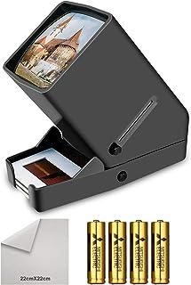 35mm Portable LED Negative and Slide Viewer LED Daylight Desktop Slide Viewer 3x Magnification for 35mm Slides