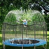 GOLDFLOWER Trampoline Sprinkler for Kids, Summer...