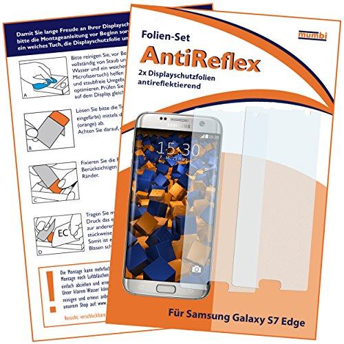mumbi Schutzfolie kompatibel mit Samsung Galaxy S7 Edge Folie matt, Bildschirmschutzfolie (2X)