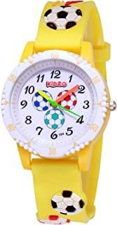 Kidzo Football Fan Yellow Analog Kids Wrist Watch with 3D Strap