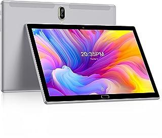FEONAL Tablet 10 Zoll Android 10 Tablet PC, 1080P FHD IPS, Mit 2 SIM Slot 4GB RAM+64GB ROM, 128GB Erweiterung, 6000mAh Akku, Octa-Core 1.6Ghz, 4G LTE Dual SIM | Wi-Fi | GPS | Bluetooth - Grau