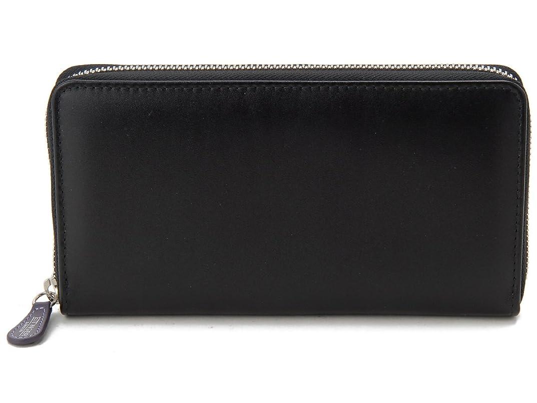 白いネックレット大腿[エッティンガー]ETTINGER ラウンドファスナー長財布 ST2051EJR PURPLE ロイヤルコレクション ブラック メンズ