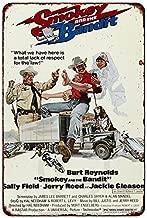 Custom Kraze Smokey and The Bandit Movie Poster Burt Reynolds Reproduction Metal Sign 8 x 12