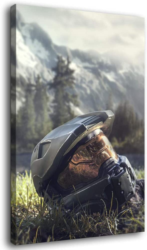 MAIDING Master Chief Halo 4 Helmet Wall and Poster Art Canvas New Ranking integrated 1st place popularity Ar