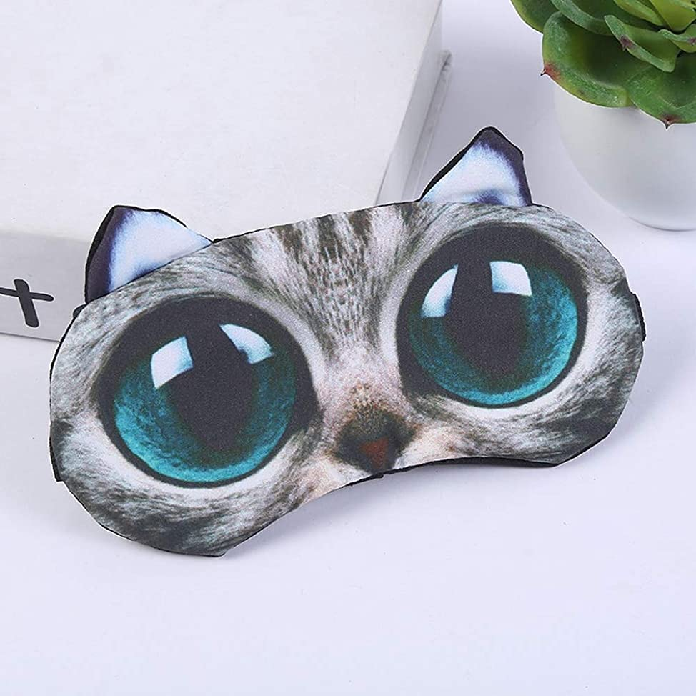 超えて損傷有益なNOTE 3Dかわいい動物アイシェードアイカバーアイマスクスリーピングアイマスクエイドパッチレスト面白いアイシェード調節可能な睡眠いびきナイトマスク