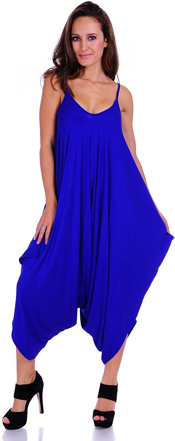 SR A surprise price is realized Women's Solid Color Spaghetti Jumpsuits Harem Fit Loose specialty shop Strap