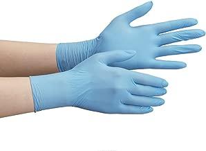 ミドリ安全 ニトリル手袋 ベルテ710N 薄手タイプ 粉なし ブルー SS (100枚入)