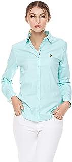 U.S. Polo Assn. Shirts For Women, Mint 44 EU (G082SZ004000580598GRN)