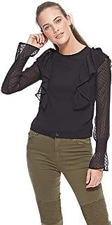 Bershka Blouses For Women, Black, XS