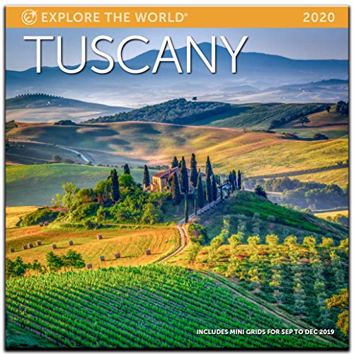 """Tuscany Wall Calendar 2020 Monthly January-December 12'' x 12"""""""